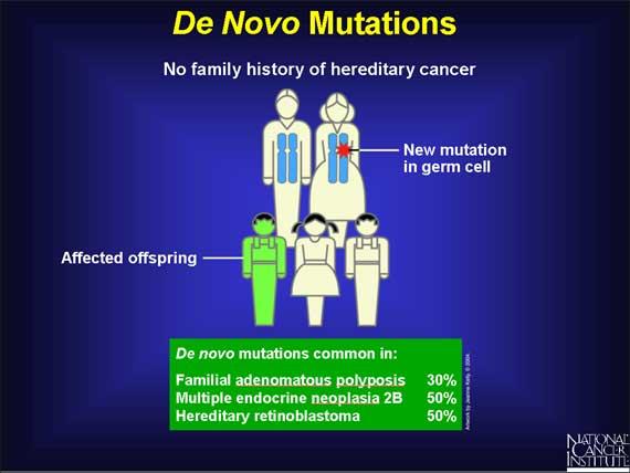 De novo mutations