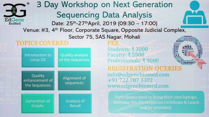 Next generation sequencing data analysis workshop